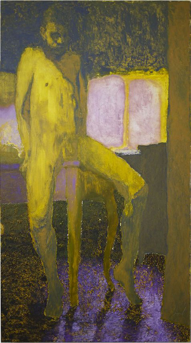Doron Langberg, Staring Into Space, 2014, oil on linen, 80 x 45 inches (courtesy