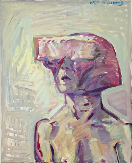 Maria Lassnig, Small Science Fiction Self-Portrait, 1995 (courtesy of the artist