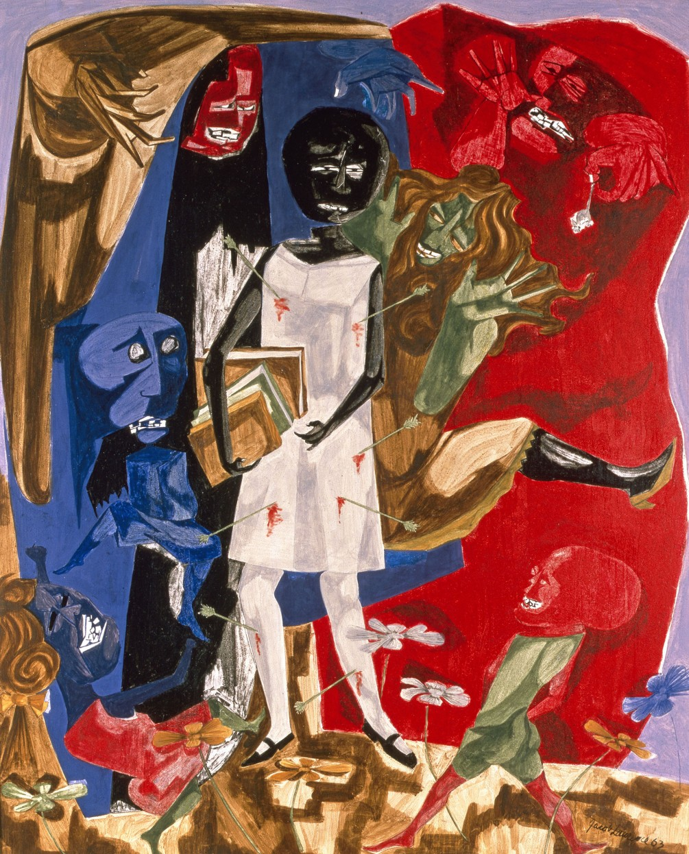 Jacob Lawrence, Ordeal of Alice, 1963, egg tempera on hardboard, 24 x 20 inches