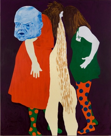 Thomas Lawson, Confrontation: Headbangers, 2010, oil on canvas, 72 x 60 inches (