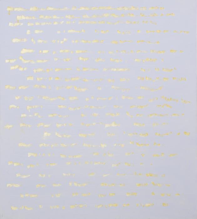Edwina Leapman, Pale Gold, Pale Blue, 2010, acrylic on canvas, 152 x 137 cm (cou