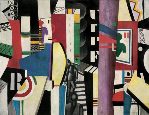 Fernand Léger, The City, 1919, oil on canvas, 7 feet 7 inches x 9 feet 9 1/2 inc
