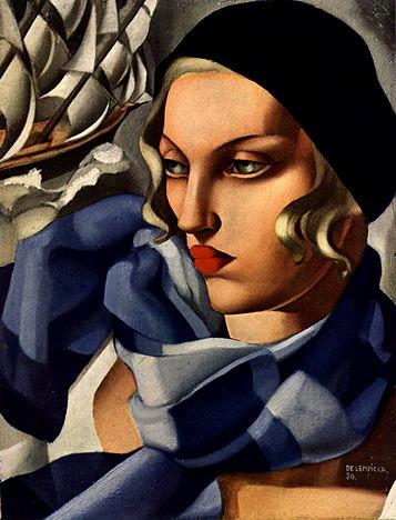 Tamara de Lempicka, L'écharpe bleue, 1930 (© Tamara Art Heritage)