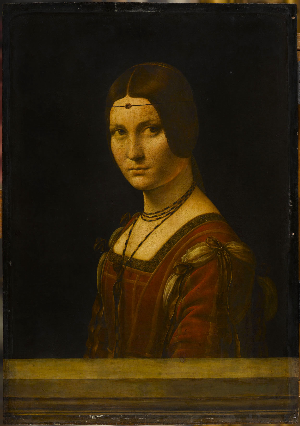 Leonardo da Vinci, Portrait of a Woman ('La Belle Ferronnière'), c. 1493–4, oil