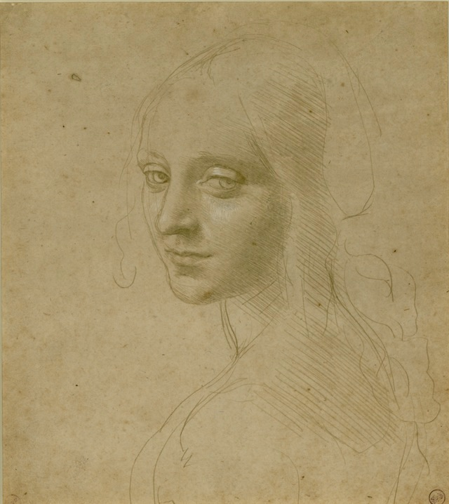 Leonardo da Vinci, Head of a Young Woman (Study for the Angel in the 'Virgin of