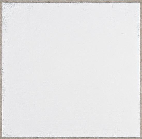 Daniel Levine, Evergreen 2011-2012, oil on cotton, 9 x 8 13/16 inches (courtesy