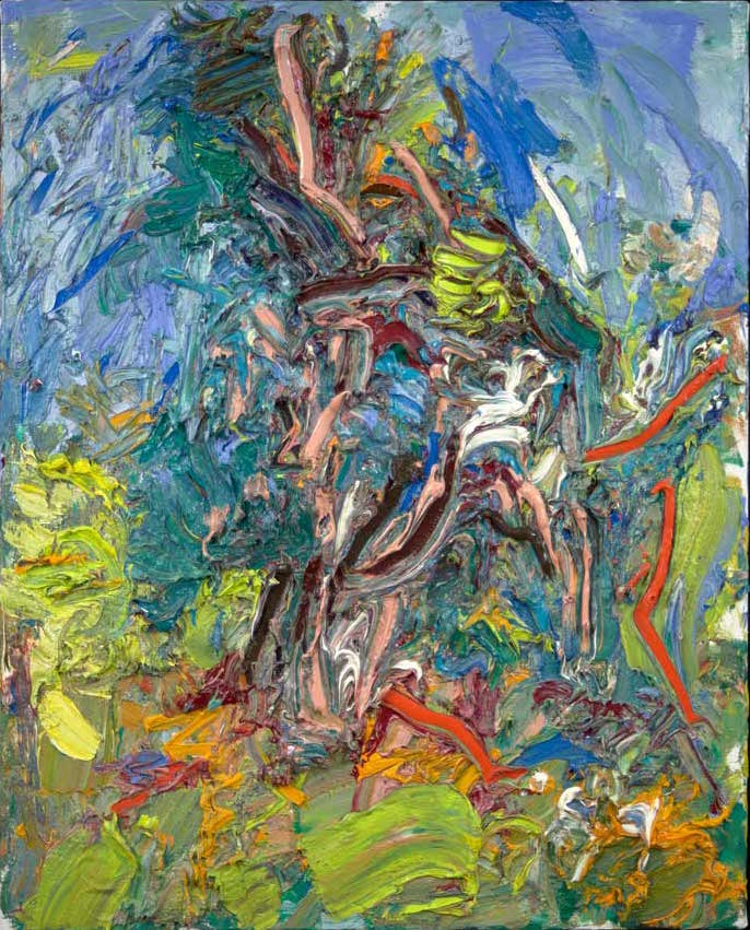 Ying Li, he Old Pine Tree Struck by Lightning, 2015, oil on linen, 30 x 24 inches (courtesy of the artist)