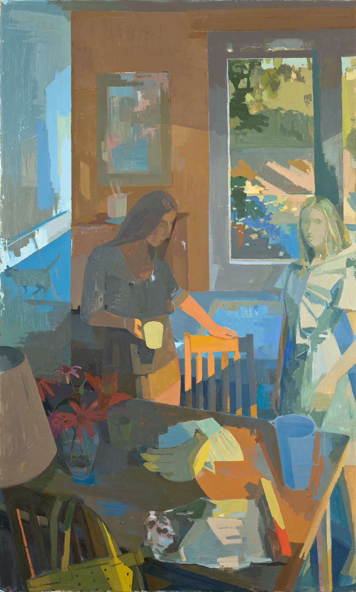 Susan Lichtman, Sisters, 66 × 45 inches, oil on canvas, 2014 (courtesy of the ar