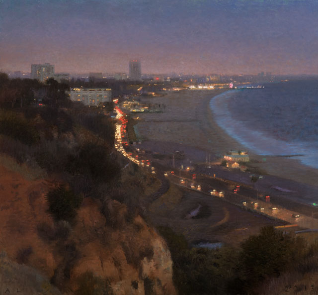 Ann Lofquist, Palisades South View III, 2013, oil on canvas, 24 x 26 inches (cou