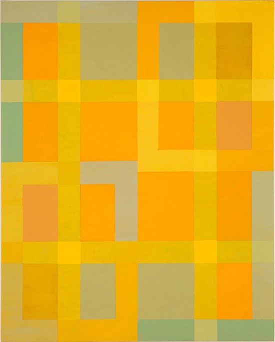 Vincent Longo, Lattice: Yellow Light 2, 2010, acrylic on wood, 20 x 16 inches (c