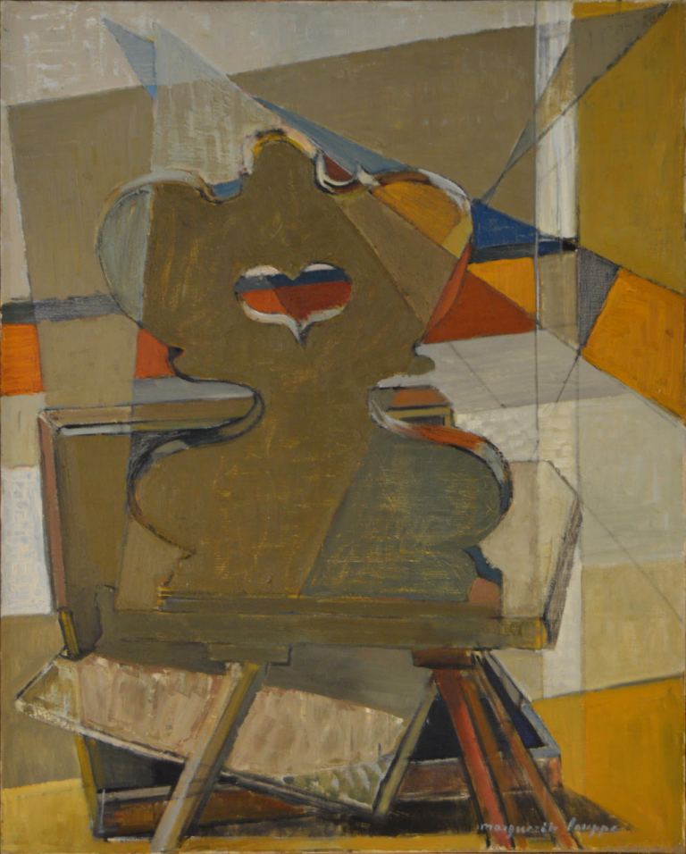 Marguerite Louppe, Rustic Chair, undated, oil on canvas, 82 x 66.5 (courtesy of Grossman Gallery, Lafayette College)