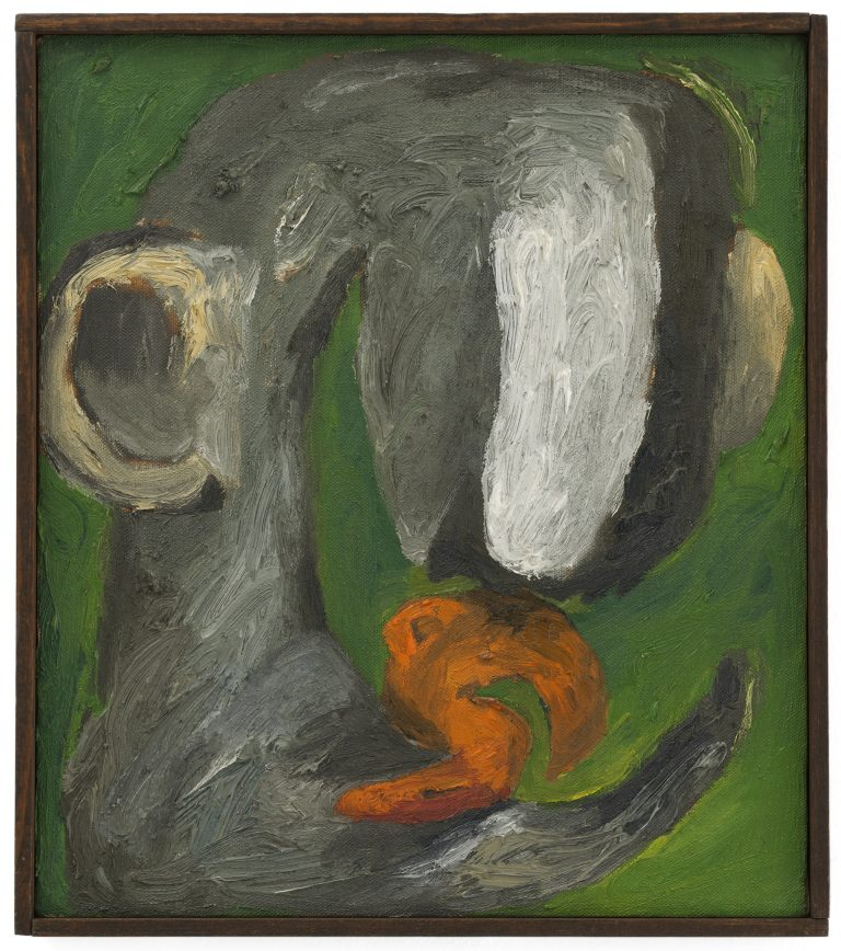 Painting by Lee Lozano at KARMA (image: Contemporary Art Daily)