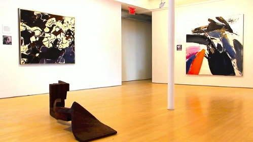 Installation view of The Lure of Paris at Loretta Howard Gallery, New York (scre