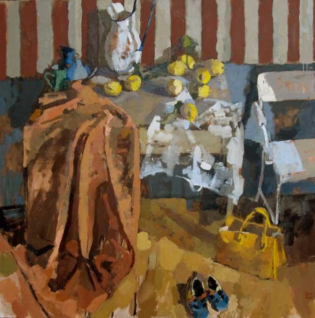 Lucy MacGillis, Sandali di Vito ,52 x 52 inches, oil on linen, 2012 (courtesy of