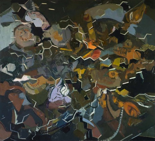 Sangram Majumdar, fall into, 42 x 46 inches, oil on linen, 2011 (Courtesy Steven