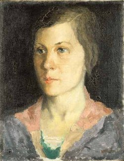 Kazimir Malevich, Portrait of the Artist's Wife, 1933 (Private collection)