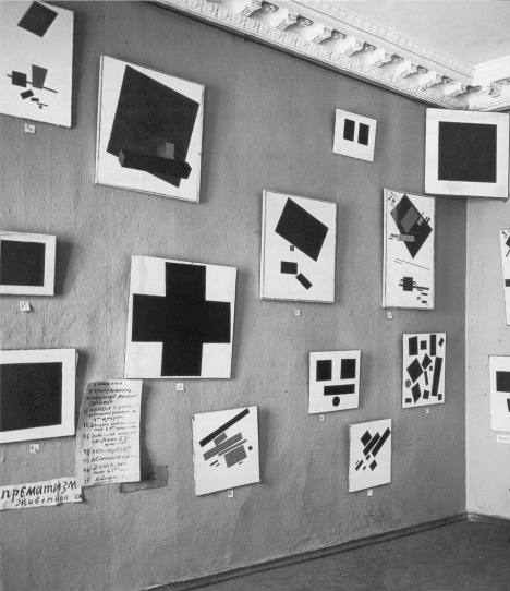 Installation view: Kazimir Malevich's paintings at 'The Last Futurist Exhibition