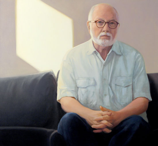 Peter Malone, Early Morning Self Portrait, 2015, oil on linen, 38 x 40 inches (c