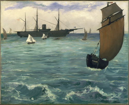 Edouard Manet, The Battle of the USS Kearsarge and the CSS Alabama, 1864, oil on