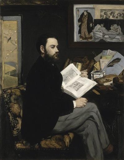 Edouard Manet, Emile Zola, 1868 Musée d'Orsay Donation of Mrs Emile Zola, 1918 ©
