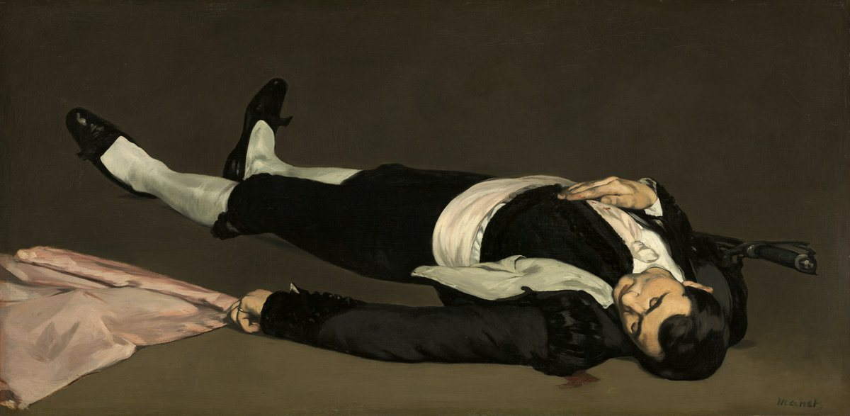 Édouard Manet, The Dead Toreador, 1864, oil on canvas, 29 7/8 x 60 3/8 inches (N