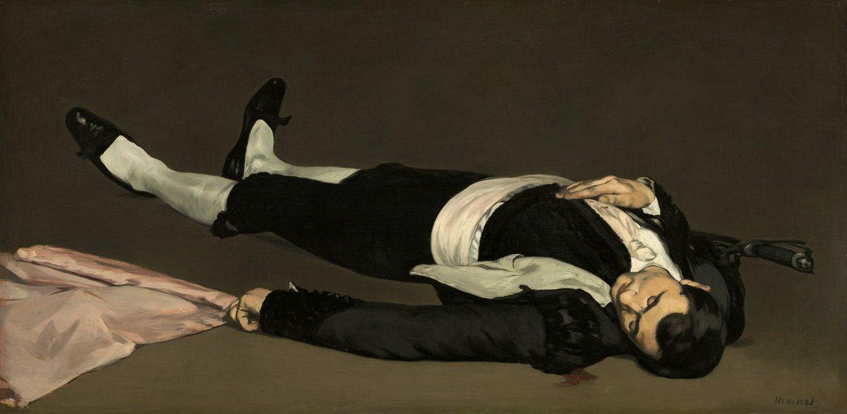 Édouard Manet, The Dead Toreador, 1864, oil on canvas, 29 7/8 x 60 3/8 inches (N