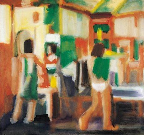 Manolo Quej, Mirror, 1984, oil on canvas, 204 x 218 cm (courtesy Miguel Marcos G