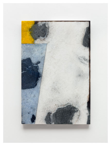 Brice Marden, #10, 2011, oil and graphite on marble, 23 5/8 x 15 3/4 inches (cou
