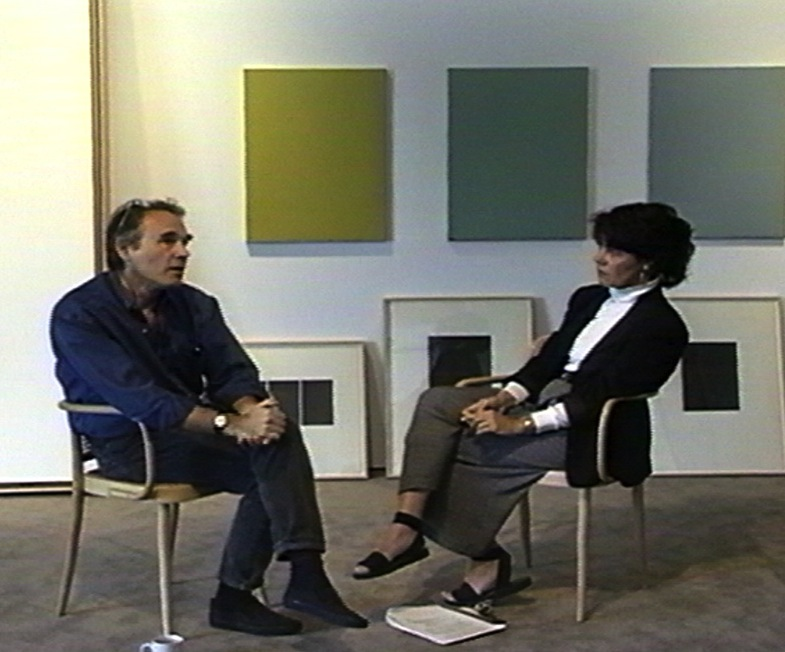 Brice Marden and Carol Mancusi-Ungaro (courtesy Artists Documentation Program)