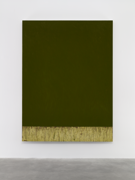 Brice Marden, Over Autumn 2015, oil on linen, 96 x 72 inches (courtesy of Matthe