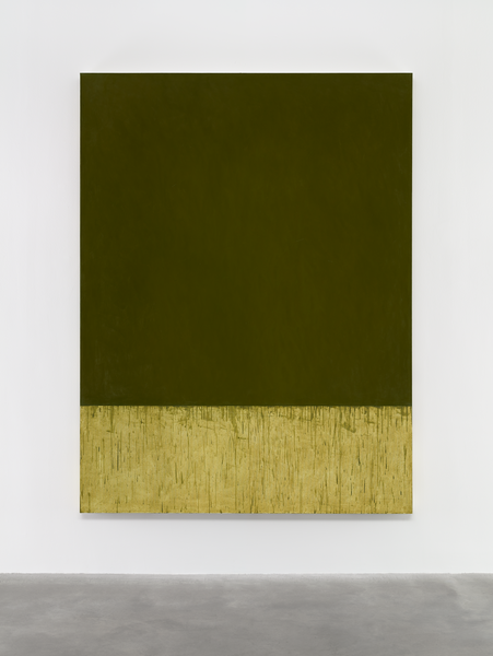 Brice Marden, Summer Square, 2015, oil on linen, 98 1/4 x 74 1/4 inches (courtes