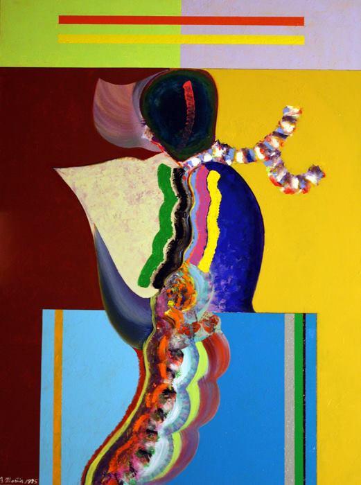 Eugene J. Martin Untitled, 1994, 48 x 36 inches, acrylic on canvas (courtesy of