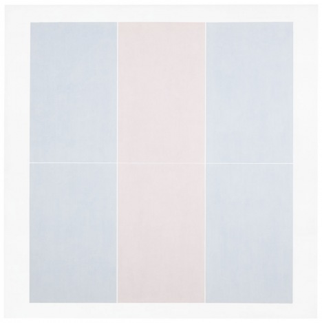Agnes Martin Untitled #3, 1974, acrylic, graphite and gesso on canvas (Des Moine