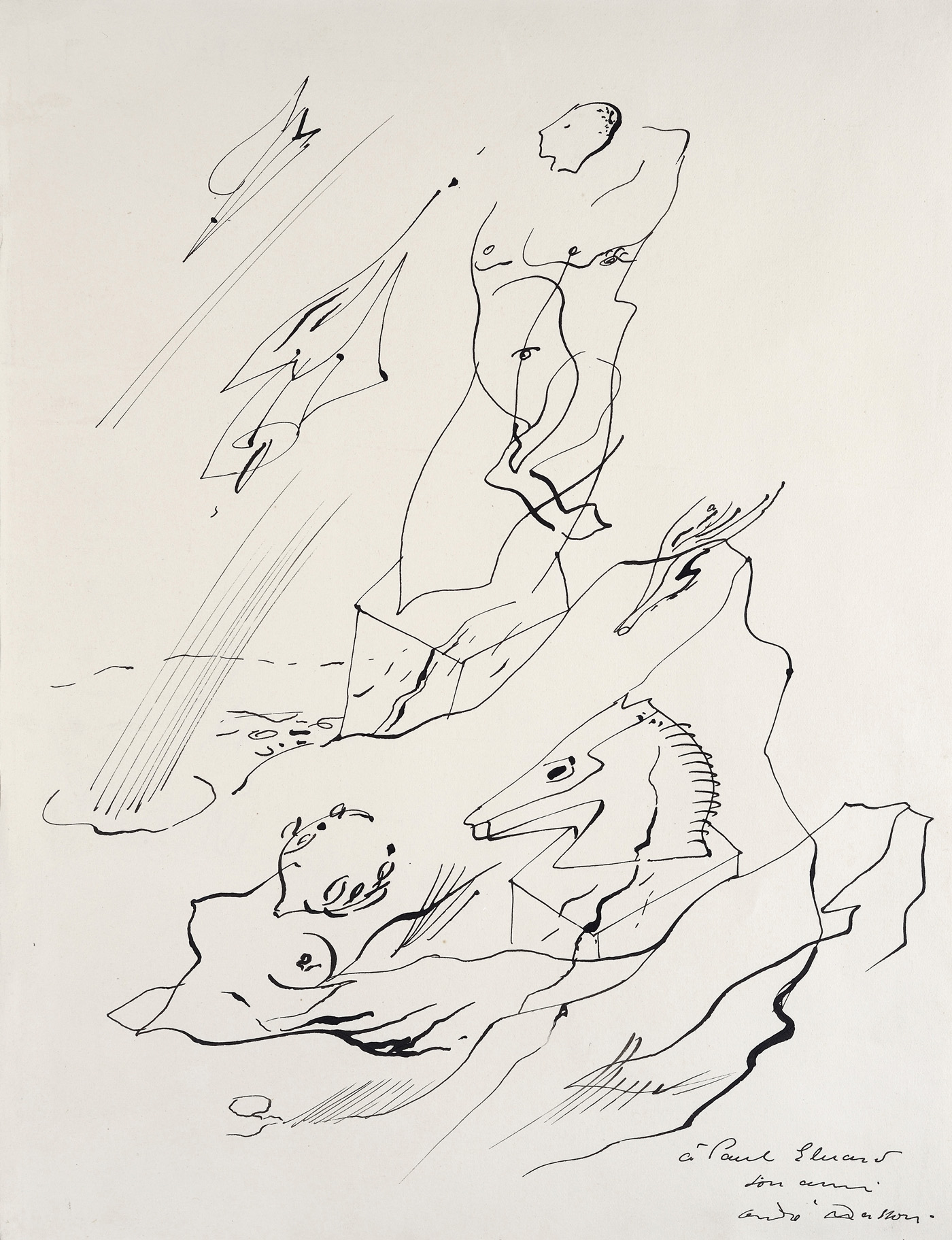André Masson, A Paul Éluard, 1924 (courtesy of Galerie Natalie Seroussi)