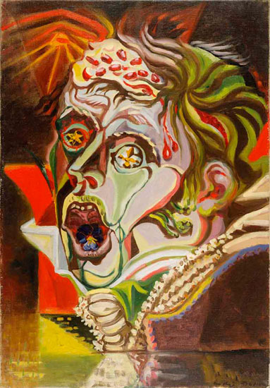 André Masson, Portrait du poète Heinrich von Kleist, 1939. Oil on canvas, 21-5/8