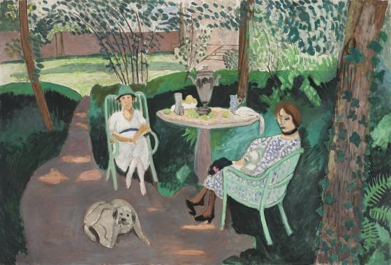 Henri Matisse, Tea in the Garden, 1919, Oil on canvas, 55 1/4 x 83 1/4 inches (L