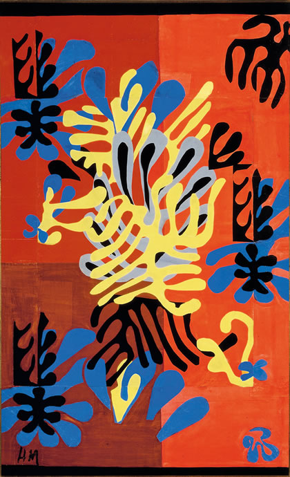 Henri Matisse, Mimosa, 1949-51, Gouache on paper, cut and pasted, mounted on can