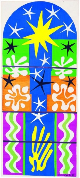 Henri Matisse, Nuit de Noel, 1952, gouache on paper, cut and pasted and mounted