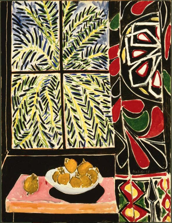 Henri Matisse, Interior with Egyptian Curtain, 1948, oil on canvas, 45 3/4 x 35