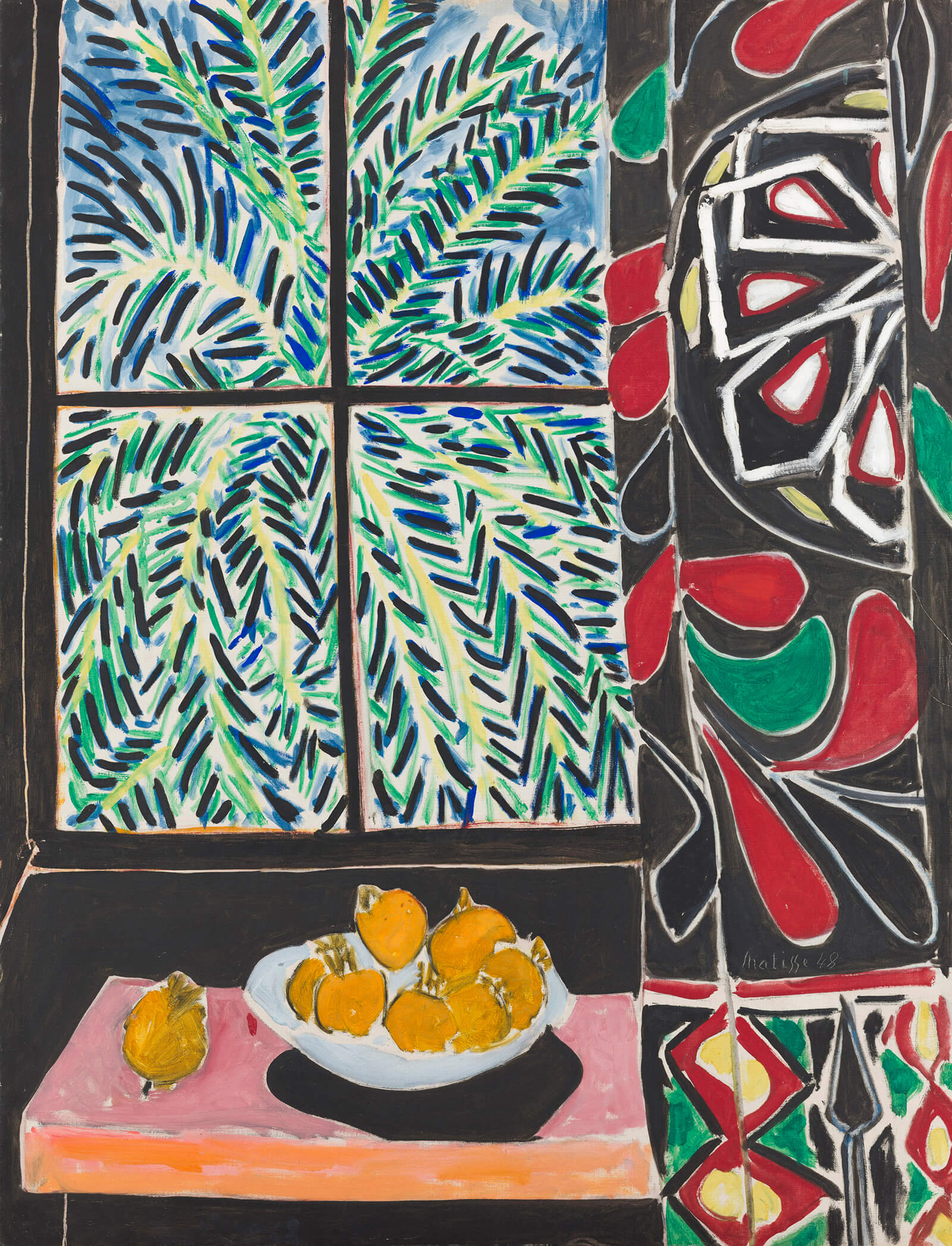 Henri Matisse, Interior with Egyptian Curtain, 1948, oil on canvas (© 2017 Succession H. Matisse and Artists Rights Society (ARS), New York/courtesy of the Museum of Fine Arts, Boston/The Phillips Collection, Washington D.C.)