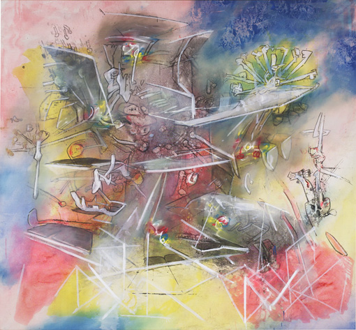 Roberto Matta, Untitled, c. 1983), oil on canvas, 74 x 80 inches (courtesy Pace