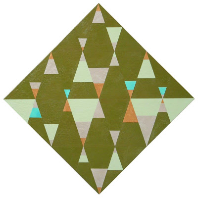 Joanne Mattera, Diamond Life 27, 2013, encaustic on panel, 12 x 12 inches (court