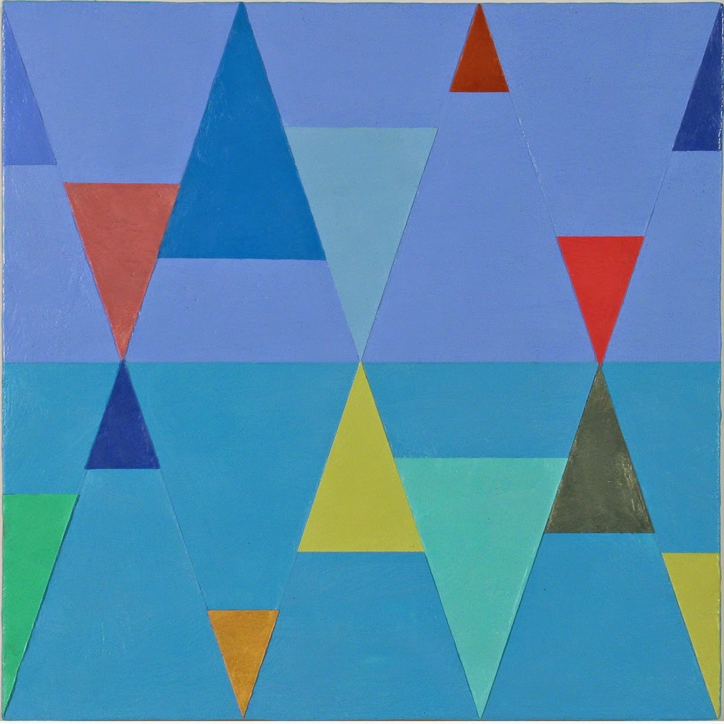 Joanne Mattera, Chromatic Geometry 21, 2014 (courtesy of the artist and Elizabet