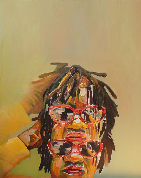 Beverly McIver, Double Take, oil on canvas, 60 x 48 inches (courtesy of Betty Cu