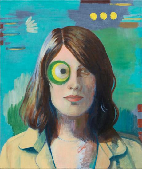 Birgit Megerle, Geometric Eye, oil on canvas, 2012 (courtesy of the artist)