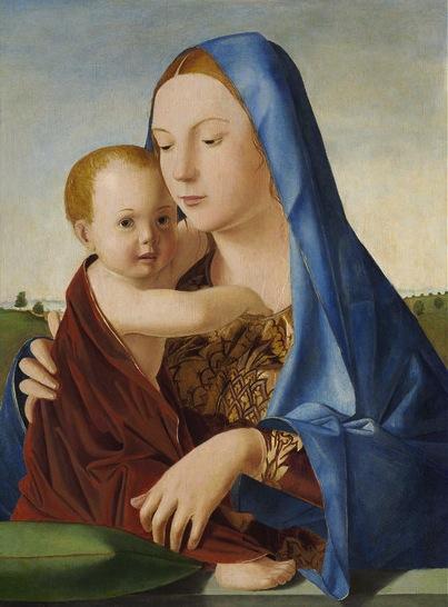 Antonello da Messina, Madonna con bambino (Madonna Benson) National Gallery of A