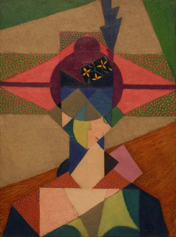 Jean Metzinger, Cubist Portrait, 1915, oil on canvas