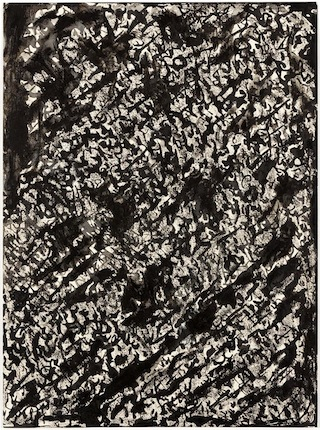 Henri Michaux, Sans Titre, 1960, india ink drawing, 45 x 32 cm (courtesy of Gale