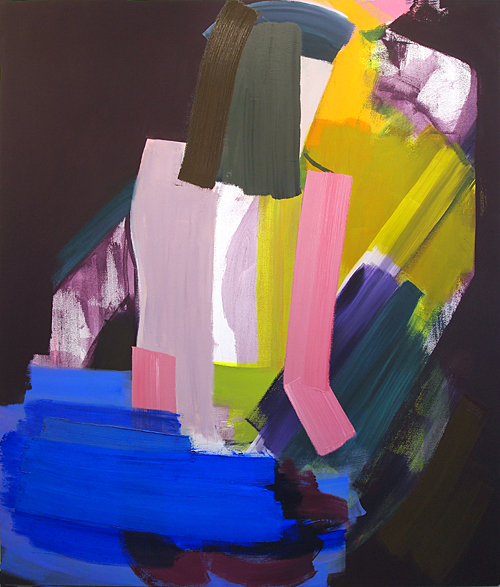 John Millei, Bathers, 2013, oil and flashe on canvas, 72 x 60 inches (courtesy o
