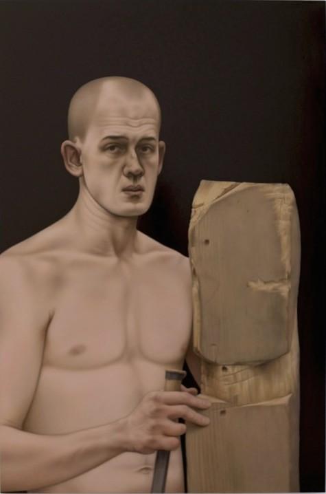 Matthew Miller, Untitled, 2014, oil on wood panel, 48 x 32 inches (© Matthew Mil